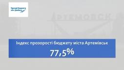 Індекс прозорості бюджету міста Артемівськ – 77,5%
